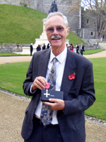 Dave Pinniger with his MBE at Windsor Castle