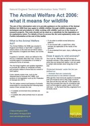 NE Animal welfare note