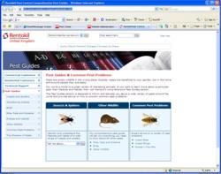Rentokil pest guide web page