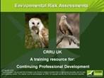 CRRU environmental risk presentation